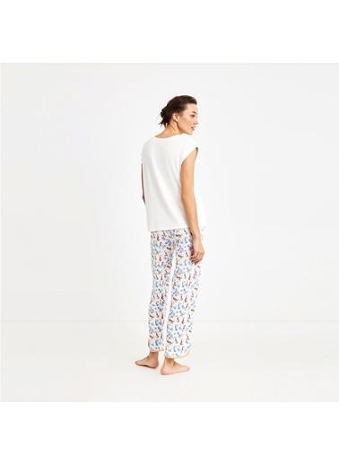 Nautica W109PJTK.BEY Nautıca Kadın Beyaz Pijama Takımı Beyaz
